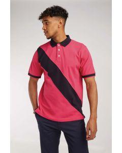 Diagonal Stripe Mens Polo Shirt