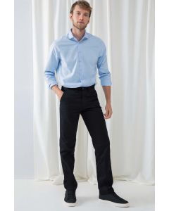 Mens 65/35 Flat Fronted Chino Trousers