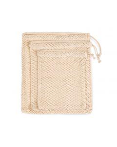 Tas van mesh met een koordje