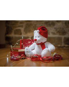 Knuffel met rits kerstbeer