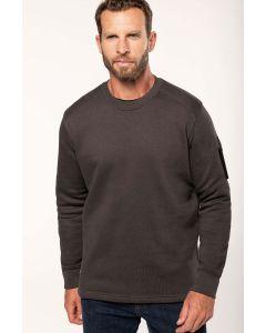 Sweater ingezette mouwen